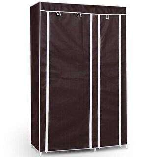 "69"" Portable Closet Storage Organizer Clothes Wardrobe - Brown"