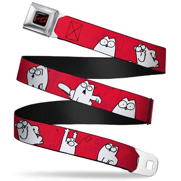 Simon's Cat Full Color Black Red Simon's Cat Poses Sketch Poses Red Black Seatbelt Belt