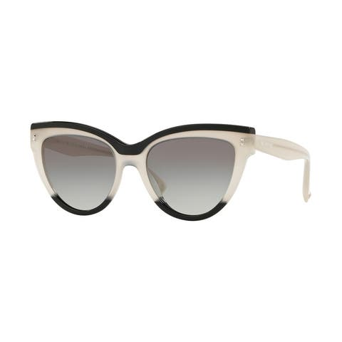Valentino VA4034 509111 54 Black/ivory/black Woman Cat Eye Sunglasses