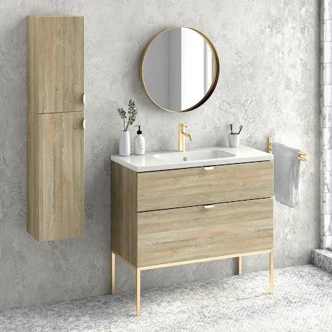 """40"""" Bathroom Vanity Cabinet + Ceramic Sink"""