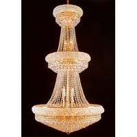 French Empire Crystal Chandelier H66 x W36 Perfect for Entryway/Foyer