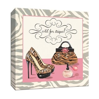 """PTM Images 9-152762  PTM Canvas Collection 12"""" x 12"""" - """"Wild for Stripes"""" Giclee Fashion Textual Art Print on Canvas"""