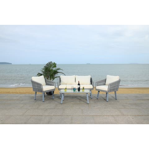 Safavieh Outdoor Kerson 4-Piece Rope Patio Set