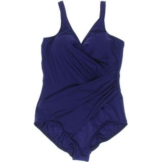 Miraclesuit Womens Gathered Slimming One-Piece Swimsuit - 16