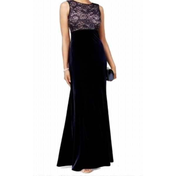 0baf559e147 Shop Nightway NEW Blue Women s Size 14 Sheath Sequin Lace Velvet Dress -  Free Shipping On Orders Over  45 - Overstock - 17831062