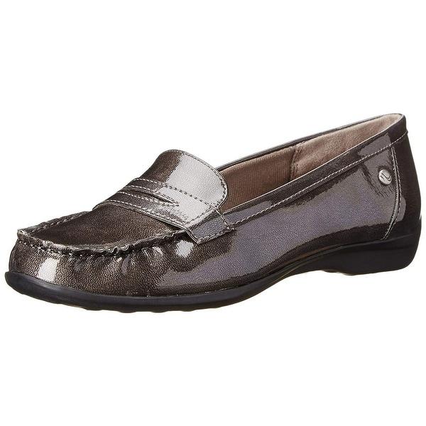 6e8477e01cd LifeStride Womens Penny Fabric Closed Toe Loafers - thunderstorm star - 8