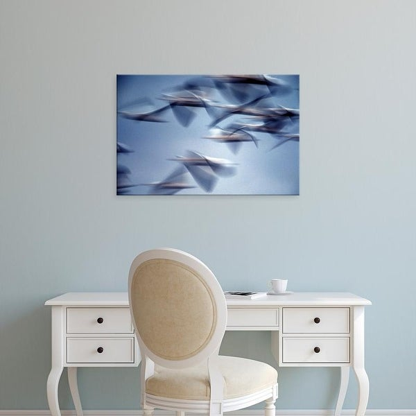 Easy Art Prints Charles Sleicher's 'Snow Geese' Premium Canvas Art