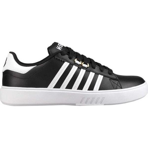 2f3105e5bfc9e K-Swiss Women's Pershing Court CMF Sneaker Black/White