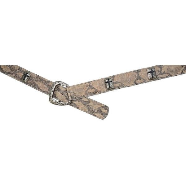 Angel Ranch Western Belt Womens Metallic Snake Print Dark Brown
