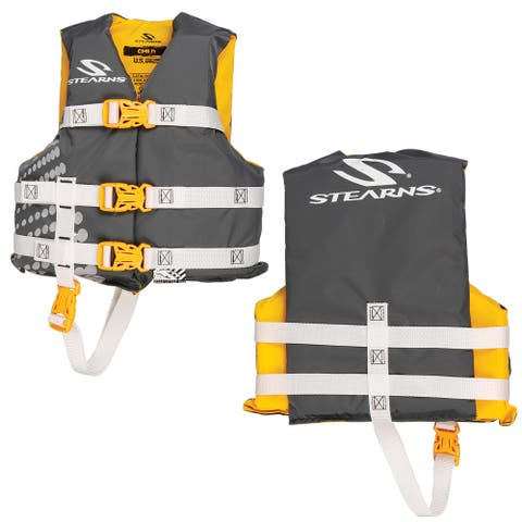 Stearns classic child life jacket 30-50 lbs gold rush