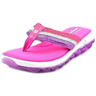 Skechers Skech Air Youth Open Toe Synthetic Pink Flip Flop Sandal