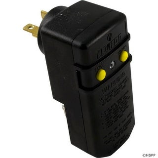 GFCI, Leviton, 20A, SPST, Right Angle Plug