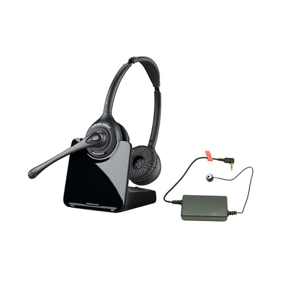 Shop Plantronics Cs520 Wireless Headset With Ehs Rd 1 Shoretel 78887 01 Overstock 28603546