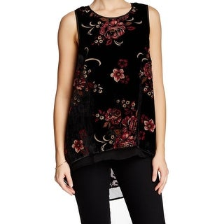 Daniel Rainn NEW Black Women's Size Large L Floral Swing Tank Blouse