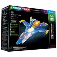 Laser Pegs Jet Airplane 6-in-1 Building Set - Lights Up