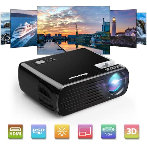 Excelvan BL-23 2600 Lumens Home Projector Portable Mini LED HD Projector Support 1080P 3D