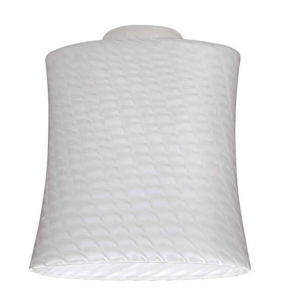 "Westinghouse 8141200 Lunar Weave Glass Shade, 2-1/4"", White"