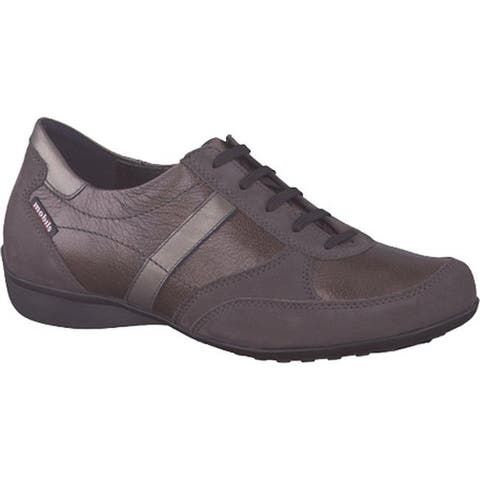 mobils by Mephisto Women's Fedra Lace-Up Grey Bucksoft/Bronze Ceylon/Titanium Perl Calf