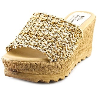 Spring Step Baya Women Open Toe Leather Wedge Heel