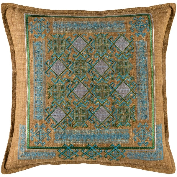 Decorative Rachel Sky Blue 18-inch Throw Pillow Cover. Opens flyout.