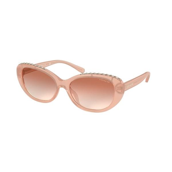 Coach HC8296U 511313 56 Milky Pink Woman Oval Sunglasses. Opens flyout.