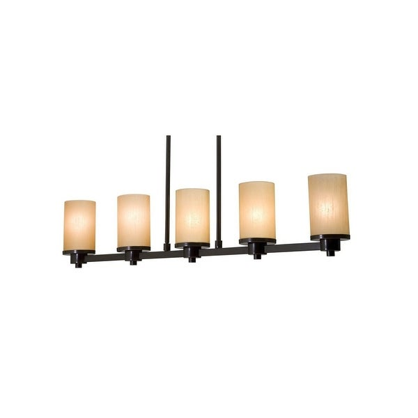 """Artcraft Lighting AC1315 Parkdale Single-Tier Linear Chandelier with 5-Lights - 38"""" Wide"""