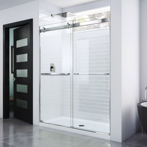 "DreamLine Essence 56-60 in. W x 76 in. H Frameless Bypass Shower Door - 56"" - 60"" W"
