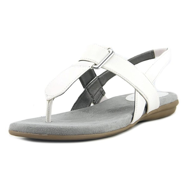 Life Stride Brooke Women Open-Toe Synthetic White Slingback Sandal