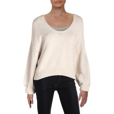 Free People Womens Perfect Day Pullover Sweater Scoop Neck Dolman Sleeves