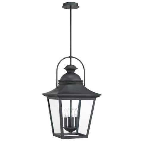 "Park Harbor PHEL4900 Cedar Manor 4 Light 15"" Wide Outdoor Pendant - Iron Ash"