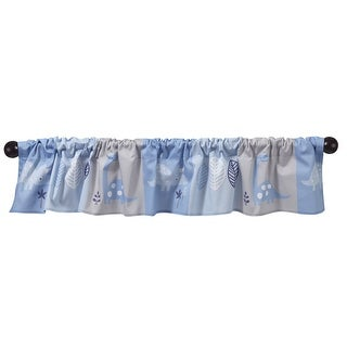 Bedtime Originals Roar Blue/Gray Dinosaur Window Valance