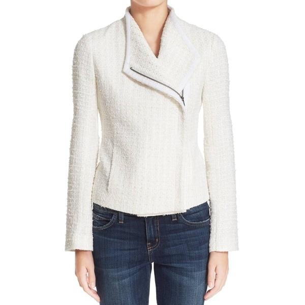 Truth And Pride Cream Women's Metallic Tweed Jacket