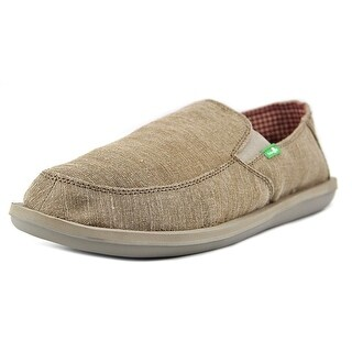 Sanuk Vice Men  Round Toe Canvas Tan Loafer