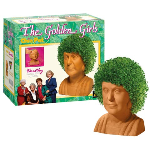 Joseph Enterprises The Golden Girls Dorothy Chia Pet Head - Bea Arthur Decorative Planter, Classic 1980s TV Sitcom Character