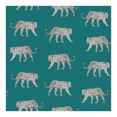 Prowl Teal Jaguars Wallpaper - 20.9 x 396 x 0.025