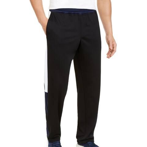 Ideology Mens Track Pants Black Blue Size 2XL Colorblocked Side-Stripe