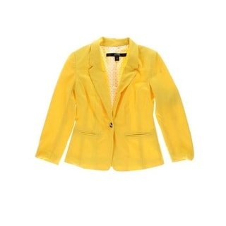 Kensie Womens Crepe Notch Collar Blazer - M