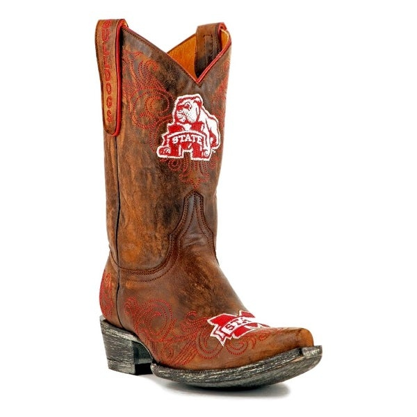 Gameday Boots Womens College Mississippi Bulldogs Brass