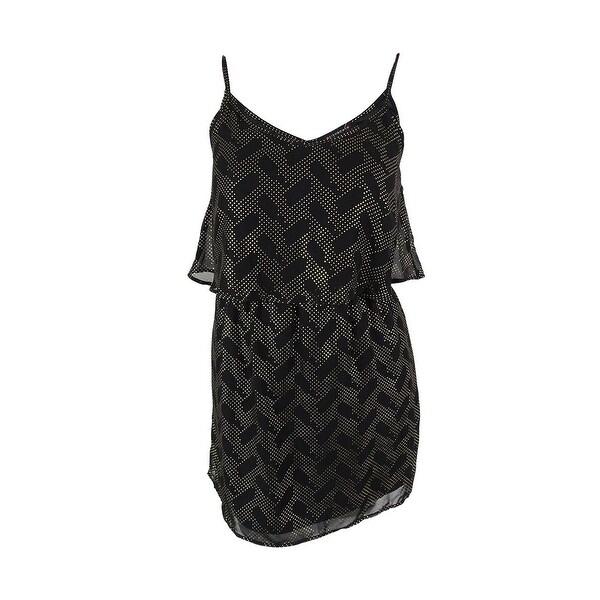 d62f3073e38d7 Fishbowl Juniors' Metallic Print Dress - Black/Gold - L