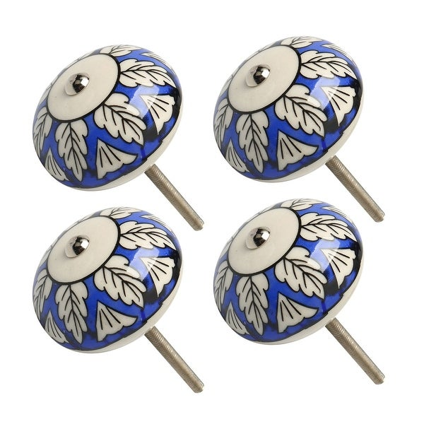 4pcs Ceramic Knobs Vintage Knob Drawer Pull Handle Furniture Cabinet Cupboard Wardrobe Dresser Decoration #6