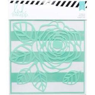 "Heidi Swapp Mixed Media Stencils 6""X6"" 2/Pkg-Flower"