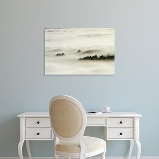Easy Art Prints David Wall's 'Fog Over Otago Harbour Ii' Premium Canvas Art