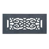 Heat Air Grille Cast Victorian Overall 5 1/2 x 12