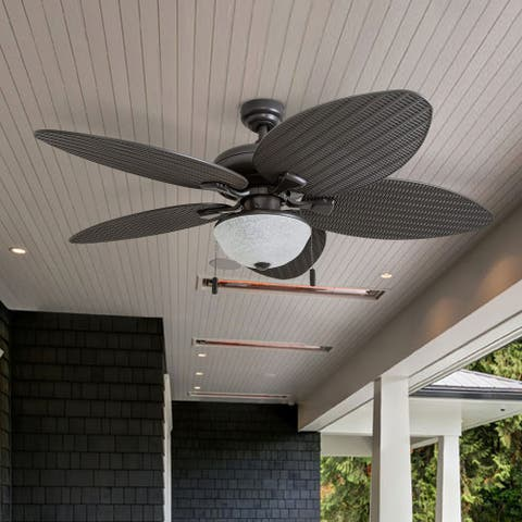 Honeywell Inland Breeze Bronze Outdoor LED Ceiling Fan with Light and Reversible Blades