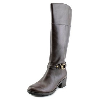 Bandolino Ulla Women Round Toe Leather Brown Knee High Boot
