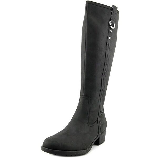 Hush Puppies Emel Overton Women Round Toe Leather Knee High Boot