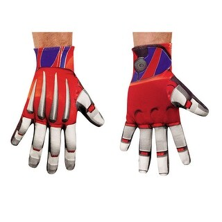 Mens Optimus Prime Transformers Halloween Gloves - standard - one size