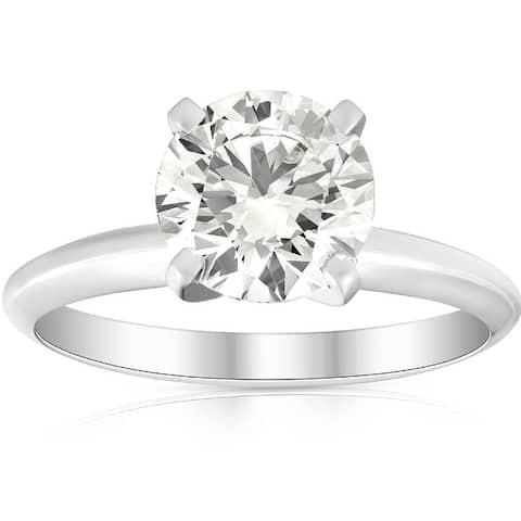 1 3/4Ct Solitaire Diamond Platinum Engagement Ring Lab Grown