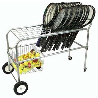 Olympia Sports RA058M Deluxe Wheeled Racquet Cart