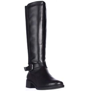 Easy Spirit Nadette Flat Riding Boots - Black